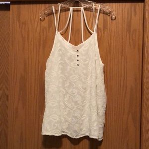 Maurice's Strappy, White, Lace Tank top. Size 1